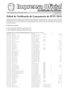 Edital de Notificação de Lançamento do IPTU/2015