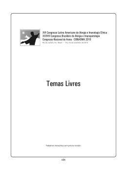 Temas Livres - ASBAI - Associação Brasileira de Alergia e