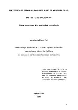 Microbiologia de alimentos: condições higiênico