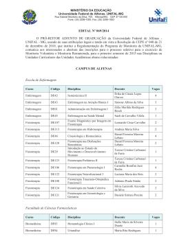 EDITAL Nº 069/2014 O PRÌ-REITOR ADJUNTO DE - Unifal-MG
