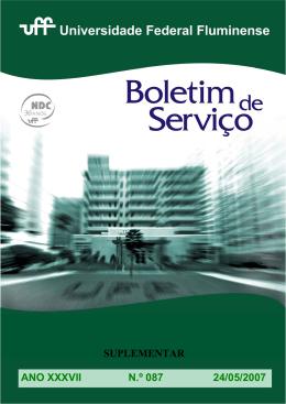 (suplementar), de 24/5/2007 - Universidade Federal Fluminense