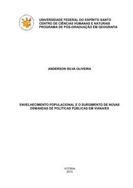 anderson silva oliveira envelhecimento populacional e o surgimento
