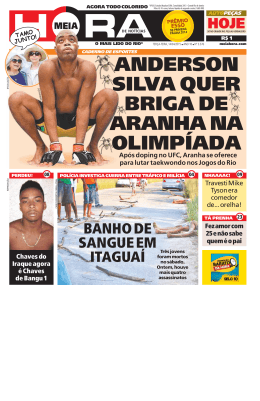 anderson silva quer briga de aranha na olimpíada