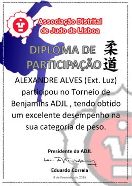 ALEXANDRE ALVES (Ext. Luz) participou no Torneio