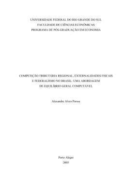 Competição tributária regional, externalidades fiscais e federalismo