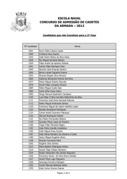 escola naval concurso de admissão de cadetes da armada – 2012