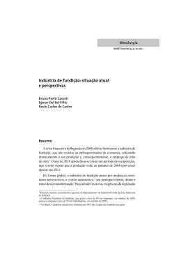 Indústria de fundição: situação atual e perspectivas