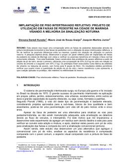 IMPLANTAÇÃO DE PISO INTERTRAVADO REFLETIVO