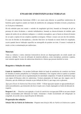 ENSAIO DE ENDOTOXINAS BACTERIANAS