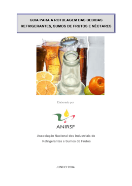 guia para a rotulagem das bebidas refrigerantes, sumos de frutos e