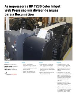 As impressoras HP T230 Color Inkjet Web Press são um divisor de