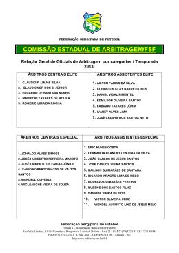 COMISSÃO ESTADUAL DE ARBITRAGEM/FSF