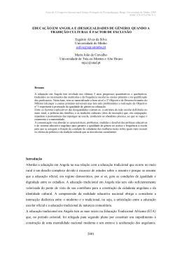 EDUCAÇAO ANGOLA DESIGUALDADE GENERO