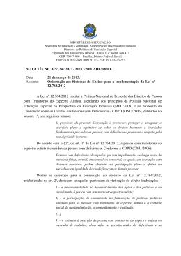 Nota Técnica nº 24 - Ministério da Educação