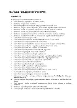 ANATOMIA E FISIOLOGIA DO CORPO HUMANO