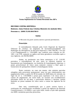 RECURSO CONTRA SENTENÇA Relatora: Juíza Federal Ana