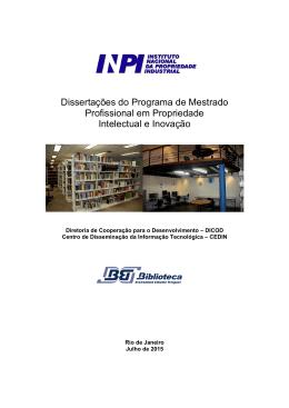 Dissertações do Programa de Mestrado Profissional em