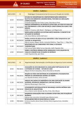 Sessões Técnicas e Apresentações