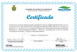 Certificamos que Thiago Andrade da Silva participou do