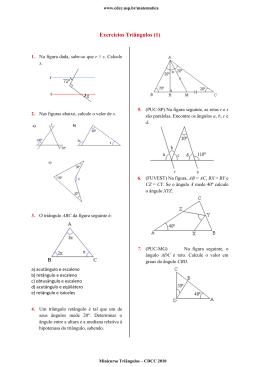 Exercícios Triângulos (1)