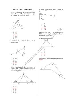 O triângulo ABC da figura é isósceles com base CB. Sabendo
