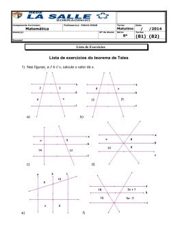 Lista de exercícios do teorema de Tales (81) (82)