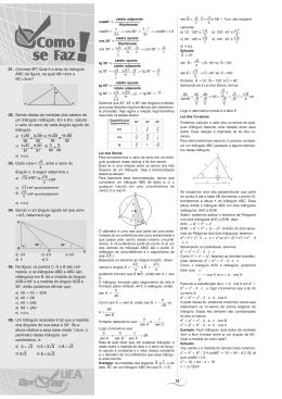 10 01. (Unimep-SP) Qual é a área do triângulo ABC da figura, na
