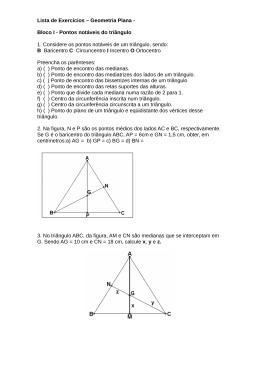 Lista de Exercícios – Geometria Plana - Bloco I - Pontos