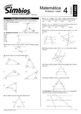 Ângulos, triângulos e paralelismo