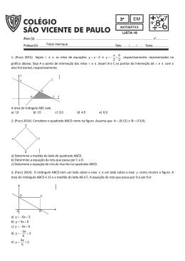 1. (Pucrj 2015) Sejam r e s as retas de equações y x 2 e