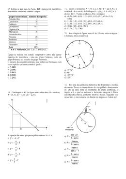 Parte lV - Prova de Matemática e Química