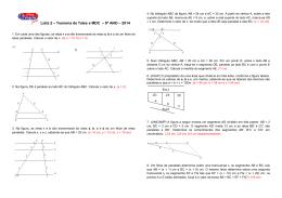Lista 2 – Teorema de Tales e MDC – 9º ANO – 2014