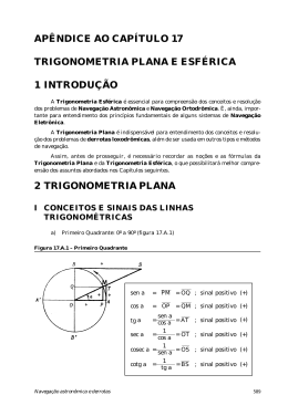 Trigonometria plana e esférica