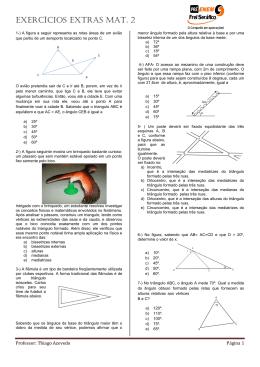 Exercícios extras Mat. 2