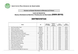 ENTREVISTAS - Escola Superior de Gestão e Tecnologia