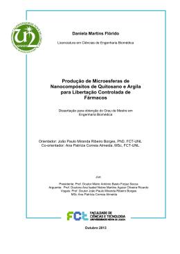 Produção de Microesferas de Nanocompósitos de Quitosano e