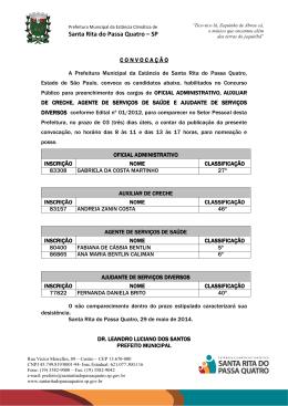 edital de convocação - Santa Rita do Passa Quatro