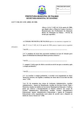 lei ordinária nº 1540 de 14/03/2008