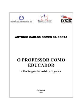 O PROFESSOR COMO EDUCADOR
