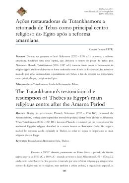 a retomada de Tebas como principal centro religioso do