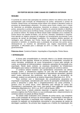 OS PORTOS SECOS COMO CANAIS DE COMÉRCIO EXTERIOR