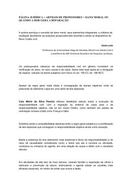 Dano moral - UVA – Universidade Veiga de Almeida