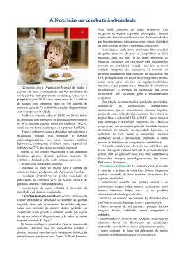 A Nutrição no combate à obesidade