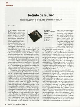 Retrato de mulher - Revista Pesquisa FAPESP