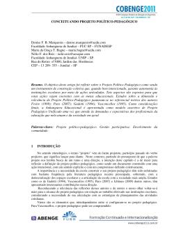 CONCEITUANDO PROJETO POLÍTICO-PEDAGÓGICO