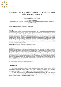 educação e tecnologias - III Sidtecs