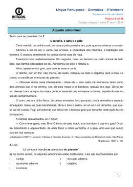 2014_8ano_3bim_Gramatica - Integral Paulínia – 8º A