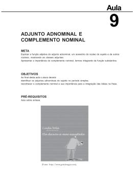 adjunto adnominal e complemento nominal