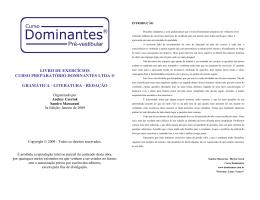 livro de exercícios curso preparatório dominantes ltda ® gramática