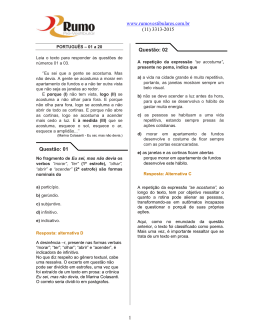 Leia o texto para responder às questões de números 01 a 03